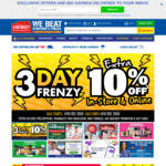10% off Storewide at Chemist Warehouse and My Chemist (Online and in-Store)