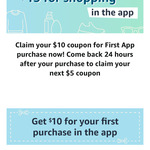 US$10 off on 1st Purchase & US$5 off on 2nd Purchase Using The Amazon App @ Amazon US
