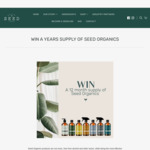Win a Years Supply of Products from Seed Organics