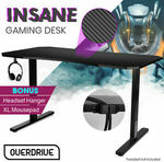 """[Afterpay] OVERDRIVE Gaming Desk 139cm (55"""" Wide) + Mousepad $135.20 + Free Delivery to Metro @ Mytopia via eBay"""