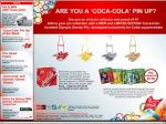 Free olympic supporter kit when purchased with 24 coke pack.