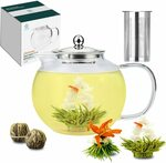 1500ml Glass Teapot with 2 Blooming Tea Balls $29.99 (Was $49.99) Delivered @ TETWIN via Amazon AU
