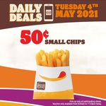 Small Chips $0.50 @ Hungry Jack's via App