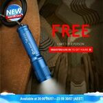 Free Olight i3E EOS Blue 90-Lumen LED Torch (+ Delivery ~ $7.95) @ Olight Australia
