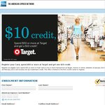 TARGET: Spend $50 and Get $10 Statement Credit from AMEX (Includes Bank Issued AMEX Cards)