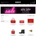 Mimco Sale Take a further 20% off the marked price of sale bags