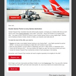 Earn Double FF Points to Any Destination with Qantas