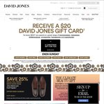 Get a $20 Gift Card for Every $100 Spend on Clothing, Accessories Homewares and Manchester @ DJ