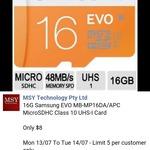 Samsung EVO 16GB MicroSD $8 @ MSY