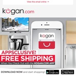 Kogan - Free Shipping - Checkout with App