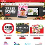Get $10 off First Grocery Order with Coles Online When You Spend $100+ and Use Click & Collect