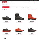 Most Camper Shoes 50% off @ Camper Online and In Store