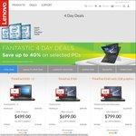 Upto 40% off Selected Lenovo Laptops/PC's @ Lenovo Store