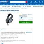 Sennheiser HD 201 Headphones $27.20 @ Officeworks or The Good Guys