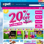 20% off Online Only @ PETstock, Includes Click & Collect. 3 Days Only