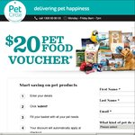 $20 off Pet Food Orders of $50 or More + Free Shipping over $49 @ Pet Circle (New Customers Only)
