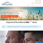 Gippsland Broadband: UNLIMITED NBN (Tier 1 Speeds 12/1) for $59.90 Per Month, No Setup Fee, Byo Modem, Terms & Conditions Apply