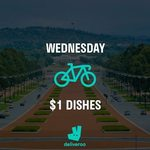 (Canberra) Deliveroo $1 Dishes + Free Delivery from 3pm Today (19/7/2017)