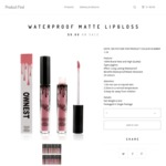 50% OFF Ownest Matte Lipgloss NZ $10.99 (~AU $10.04) Shipped (Was $19.99) @ Productfind