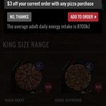 [NSW] $3 off Order @ Domino's Online (Crows Nest)