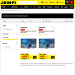 "Samsung UA65MU6100 65"" 4K UHD Smart LED TV $1498 (Save $1000), Samsung 43"" 4K UHD Smart TV $598 (Save $400) @ JB Hi-Fi"