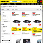 15% off Selected Microsoft Surface Laptops, Surface Books & Surface Pro 4's (+ Further Discount with Gift Cards) @ JB Hi-Fi