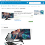 "Dell Alienware AW3418DW 34"" Ultrawide 21:9 120hz G-SYNC IPS Gaming Monitor $1,679 Delivered @ Dell AU"