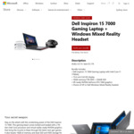 Dell Inspiron 15 7000 Gaming Laptop (i7-7700HQ + GTX 1060) With Windows Mixed Reality Headset $2123.15 @ Microsoft Store