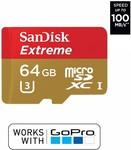 SanDisk 64GB Extreme microSDXC UHS-I U3 $39.95 Delivered @ Wireless1