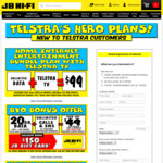 New Customers Telstra BYO Plan - 20GB Data + Unlim Calls/SMS for $49/Month (Min 12) + $150 Gift Card (Ported Numbers) @ JB Hi-Fi