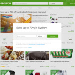 Groupon: 10% off Appwide or 5% off Sitewide (Unlimited Redemptions)