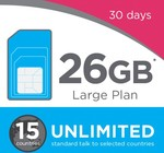 (Back in Stock) Lara Mobile Large Plan Starter Pack 30 Days for $9.90 with 10GB + 16GB (Bonus 16GB for The First Month) @ Lebara