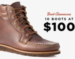 Huckberry Boot Clearance - Selection of Boots Reduced to US $100 (Plus $10 Shipping)