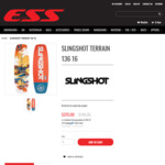 SLINGSHOT TERRAIN  139 Wake Board $280 @ ESS Board Shop
