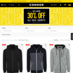 Mens Sweat Jacket $20.99 (Was $69.99) @ Connor ($10 Shipping Order under $60, Free C&C)