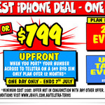 iPhone 8 Plus 64GB $799 with $49pm (12 Months Plan) BYO Sim Plan (Must Port to Telstra) @ JB Hi-Fi (In-Store Only - Today Only)