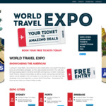 Free Ticket for World Travel Expo - Showcasing The Americas (Nationwide)