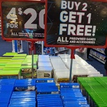 Buy 2 Get 1 Free on ALL Preowned Games or 4 for $20 on Pre-Owned Titles for Older Consoles @ EB Games