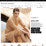 """David Jones 20% off """"Selected"""" When Pay with Afterpay (Today Only)"""