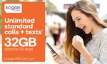 $1.95 for a Kogan 30-Day 32GB Unlimited Mobile Plan (Total Value $49.90) @ Groupon