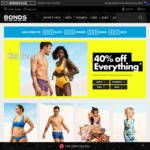 40% off Everything + Free Shipping @ Bonds Online