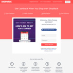 $10 Bonus Cashback for New Users @ ShopBack