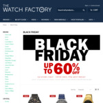 The Watch Factory Black Friday Deals up to 60% off Watches from Tommy Hilfiger, Casio, Hugo Boss, Coach, Swiss Military & More