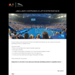 Win a Trip to the MasterCard Hopman Cup in Perth for 2 Worth $6,250 from Jaguar