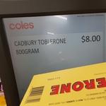 Toblerone 800g (4x200g) $8 @ Coles