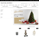 50% off Christmas Trims, Decorations and Festive Food + Discounts on Alcohol (Discount Applies in Cart) @ David Jones Online