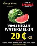 [VIC] Whole Seedless Watermelon $0.20 Per kg @ Henrys Mercato Stud Park