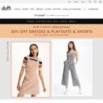 30% Off All Full Priced Dresses, Shorts and Jumpsuits @ Dotti
