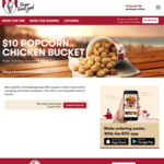 $10 Popcorn Chicken Bucket (~80 Pieces) @ KFC