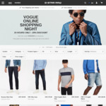 (Vogue Online Shopping Night) 20% off Full Priced Items @ G-Star RAW